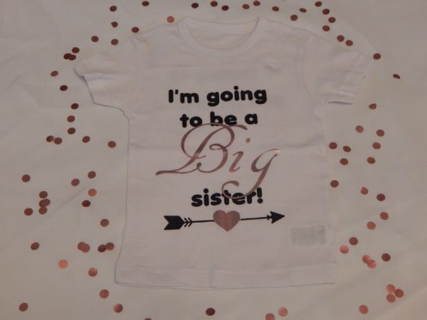 Child's Sibling Pregnancy Announcement Personalised T-Shirt